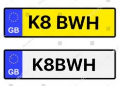 Kate – private plate – K8 BWH